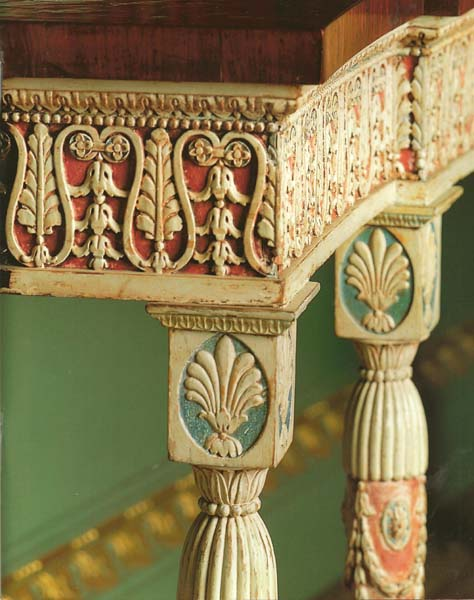 Thomas Chippendale: Detail of the base of a Pier Table, Harewood House, Yorkshire, c1771-2.