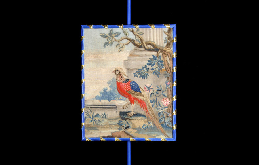 Tapestry panel with Indian pheasant