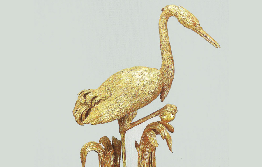 Chippendale Carved Figure of a Crane