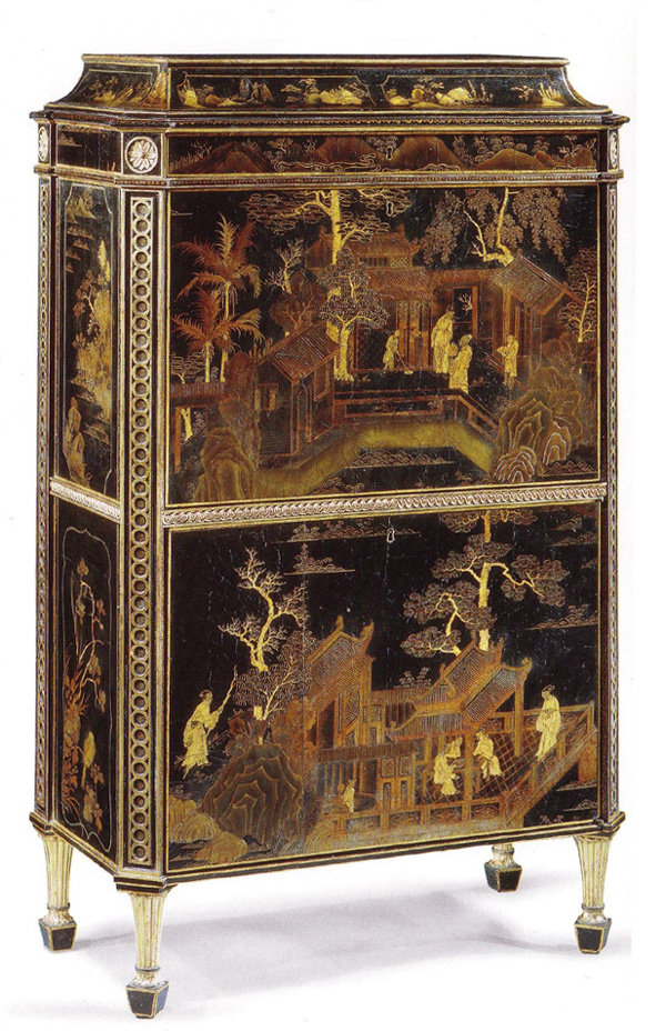 Thomas Chippendale: Lacquered Chinese style Cabinet, Harewood, House, Yorkshire.