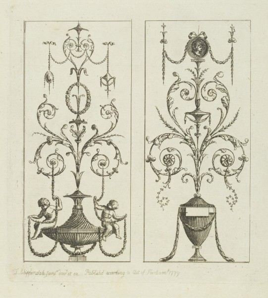 Sketches of Ornament by Chippendale Junior