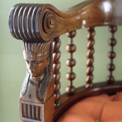 Detail of chair, Stourhead, Wiltshire.